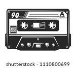 vintage monochrome audio... | Shutterstock .eps vector #1110800699