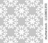 white floral ornament on gray... | Shutterstock .eps vector #1110801353