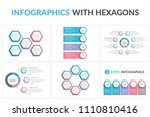 six infographic templates with...   Shutterstock .eps vector #1110810416