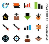 solid vector icon set   graph... | Shutterstock .eps vector #1110815930