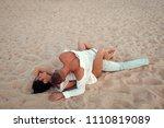 honeymoon. sex on beach concept.... | Shutterstock . vector #1110819089