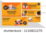 discount coupon set for movies... | Shutterstock .eps vector #1110821270
