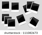 set of vintage photo... | Shutterstock .eps vector #111082673