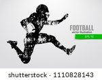 silhouette of a football player.... | Shutterstock .eps vector #1110828143