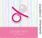 baby girl shower invitation card | Shutterstock .eps vector #111082919