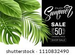 sale banner  poster with palm... | Shutterstock .eps vector #1110832490