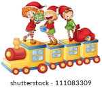 illustration of a kids playing... | Shutterstock . vector #111083309