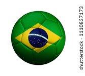the flag of brazil is shown on... | Shutterstock . vector #1110837173