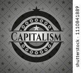 capitalism dark badge   Shutterstock .eps vector #1110841889