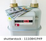 natural gas meter with us... | Shutterstock . vector #1110841949