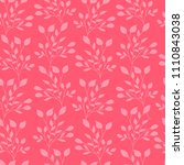 pink leaves seamless pattern... | Shutterstock .eps vector #1110843038