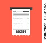 receipt icon. invoice sign.... | Shutterstock .eps vector #1110846566
