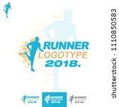 vector athlete runner sprinter... | Shutterstock .eps vector #1110850583
