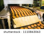 automatic bakery production... | Shutterstock . vector #1110863063