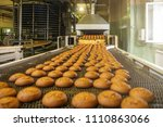 automatic bakery production... | Shutterstock . vector #1110863066