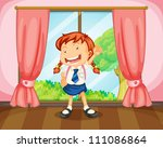 illustration of a girl with... | Shutterstock . vector #111086864