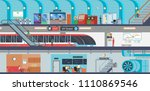 subway banner of underground... | Shutterstock .eps vector #1110869546