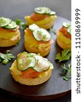 Canape With Salmon  Scrambled...