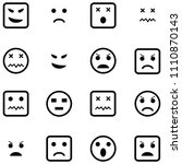 angry icon set | Shutterstock .eps vector #1110870143