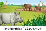 illustration of various animals