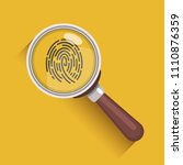 magnifying glass and fingerprint | Shutterstock .eps vector #1110876359