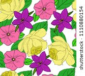 vector seamless pattern with... | Shutterstock .eps vector #1110880154