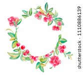 hand drawn watercolor frame...   Shutterstock . vector #1110886139