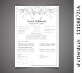 scholarships cv resume template ... | Shutterstock .eps vector #1110887216