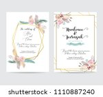geometry gold wedding... | Shutterstock .eps vector #1110887240