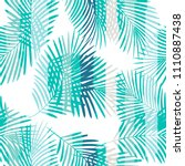 tropical pattern  palm leaves... | Shutterstock .eps vector #1110887438