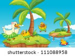 illustration of a duck and... | Shutterstock . vector #111088958