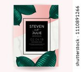 marble wedding invitation card... | Shutterstock .eps vector #1110891266
