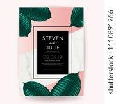 marble wedding invitation card... | Shutterstock .eps vector #1110891266