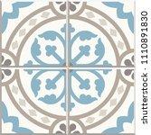 ancient floor ceramic tiles.... | Shutterstock .eps vector #1110891830