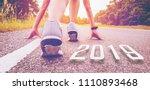 2019 symbolises the start into... | Shutterstock . vector #1110893468