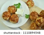 buns with cheese cookery | Shutterstock . vector #1110894548