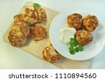 buns with cheese cookery | Shutterstock . vector #1110894560