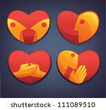 vector collection of love...   Shutterstock .eps vector #111089510
