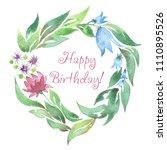 watercolor flower  background... | Shutterstock . vector #1110895526