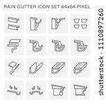 Rain Gutter With Halfline Shape ...