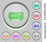 video projector color icons on... | Shutterstock .eps vector #1110901193