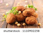 fried falafel ball | Shutterstock . vector #1110902258