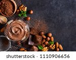 black food background with... | Shutterstock . vector #1110906656