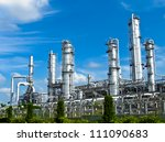 petrochemical plant with blue... | Shutterstock . vector #111090683