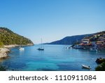 view of assos village and... | Shutterstock . vector #1110911084
