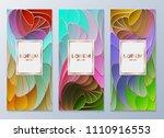 design templates for flyers ...   Shutterstock .eps vector #1110916553
