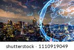 smart city and global network... | Shutterstock . vector #1110919049