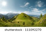 mountain panorama landscape | Shutterstock . vector #111092270