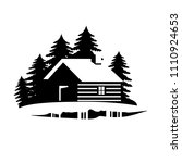 wood house in the hill  icons...   Shutterstock .eps vector #1110924653