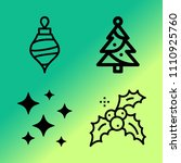 vector icon set about christmas ...